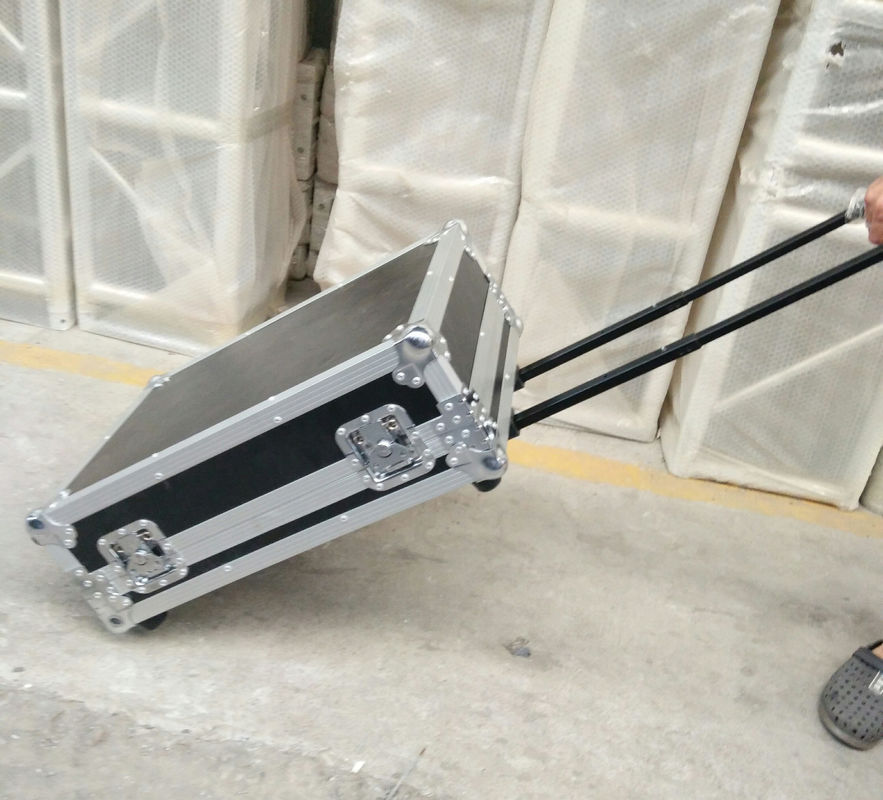 Customized Aluminum Trolley Flight Case Plywood Road Case with Small Wheels