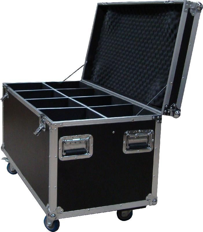 20U Standard Rack Flight Case With 9mm Plywood / Trolley Case