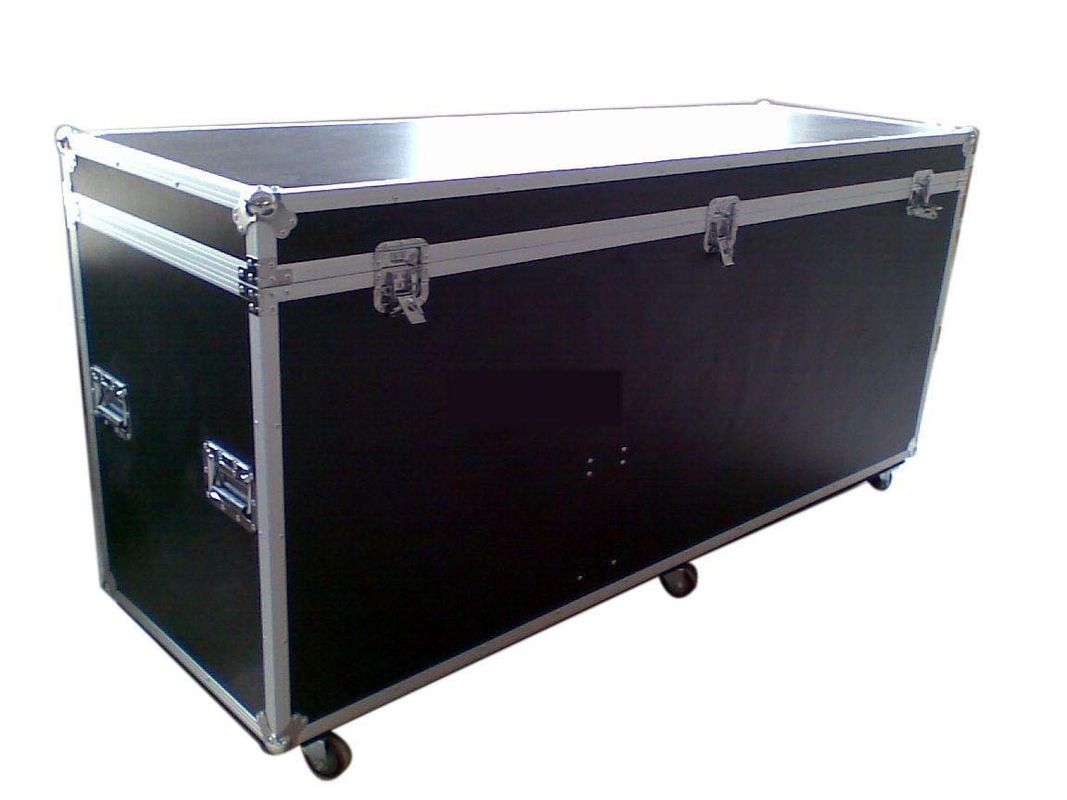 Custom facoty aluminum heavy duty Black Wooden Standard Rack Flight Case  / 22U Flight Case