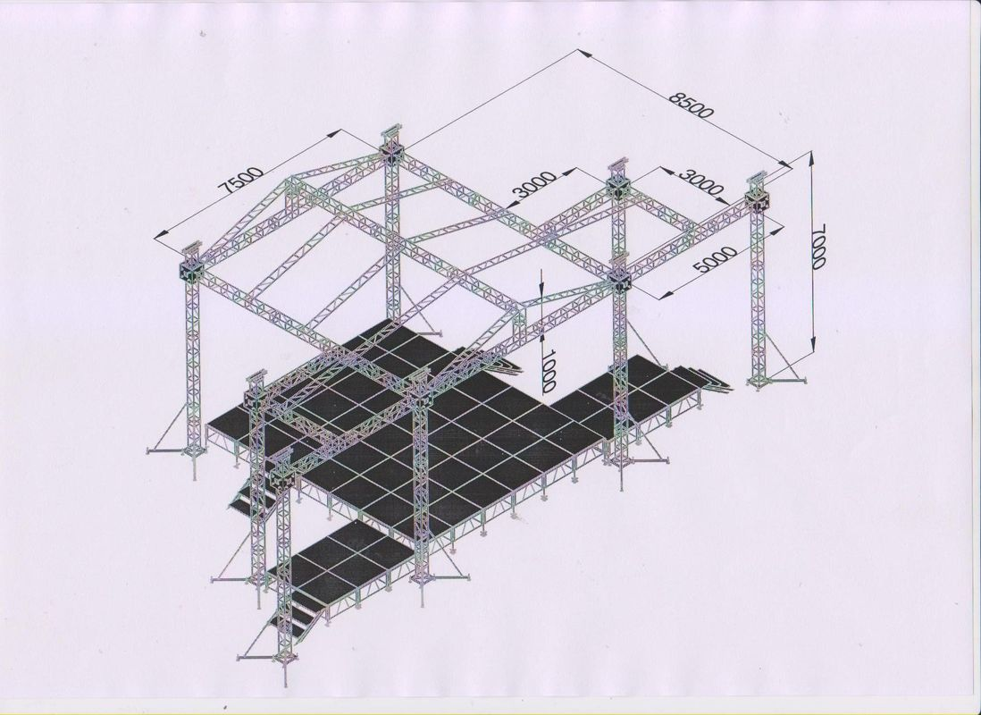 Aluminum 6082-T6 Professional Stage Truss With High Technical Weld
