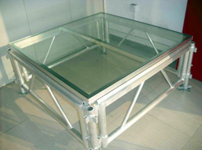 Transparent Plexiglass / Aluminum Stage Truss For Wedding And Swimming Pool