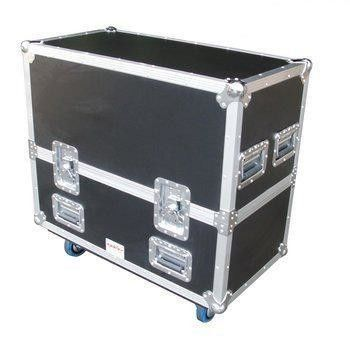Black Aluminum Flight Case With Wheels And Safe Locks And Strong Handle Size 1200*600*630MM