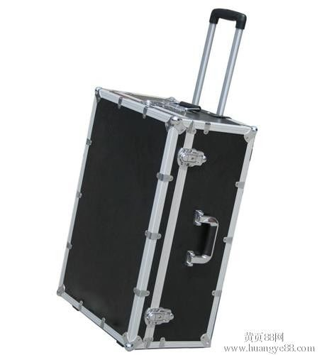 Black Plywood Flight Case With Pull-out Handle , 1mm fireproof plywood outside the case