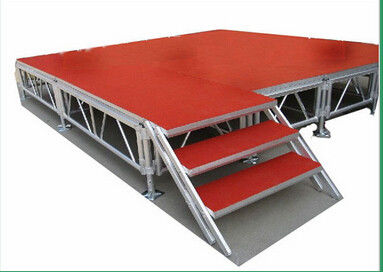 Indoor Movable Stage Platform 1.22 X 1.22M Aluminum Height TUV