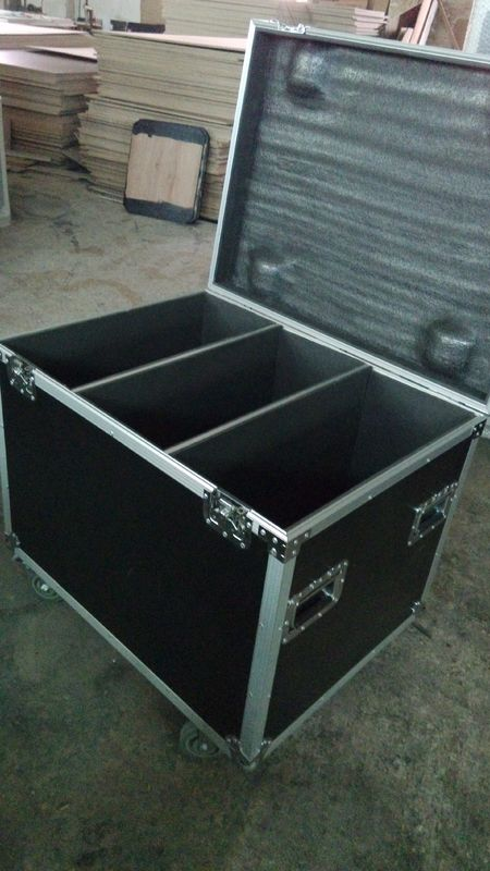 9 MM 6U 3 Partitions Flight Case For Cables ,  Aluminum Ata Flight Case