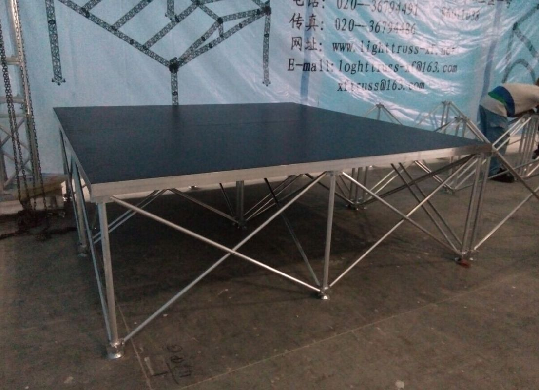 Aluminum Folding Movable Stage Platform with 18mm thickness Anti-slip Plywood